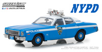 """Plymouth Fury New York City Police Department """"NYPD"""" (1975) Greenlight 1:43"""