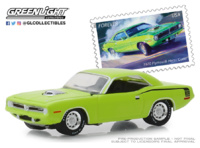 "Plymouth HEMI 'Cuda - (USPS) ""American on the Movie"" (1970) Greenlight 1/64"