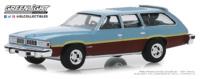 "Pontiac LeMans Safari Wagon - ""Azul metalizado con paneles de madera"" (1977) Greenlight 1/64"