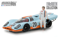 "Porsche 917K Gulf Oil ""Steve McQueen"" (1930-80) Greenlight 1/43"