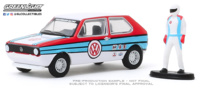 "Volkswagen Golf Mk1 ""Rabbit"" con piloto (1975) Greenlight 1/64"