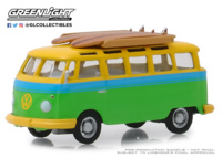 Volkswagen Samba Bus with Surfboard (1964) Greenlight 1:64