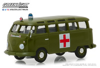 Volkswagen T1 Samba Bus Army Ambulance Solid Pack (1964) Greenlight 1:64