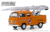 Volkswagen T2 Doble cabina con autoescala (1972) Greenlight 1/64