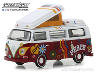 Volkswagen T2 Westfalia - Hippie (1973) Greenlight 1/64