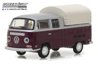 Volkswagen T2 cabina doble (1971) Greenlight 1/64