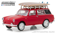 Volkswagen Type 3 Squareback with Roof Rack and Surfboards (1962) Greenlight 1:64